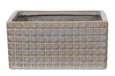 BOAT RECTANGLE SQ CHECK 18CM GRY
