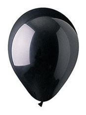"LATEX 12"" BLACK CRYSTAL 100/PK"